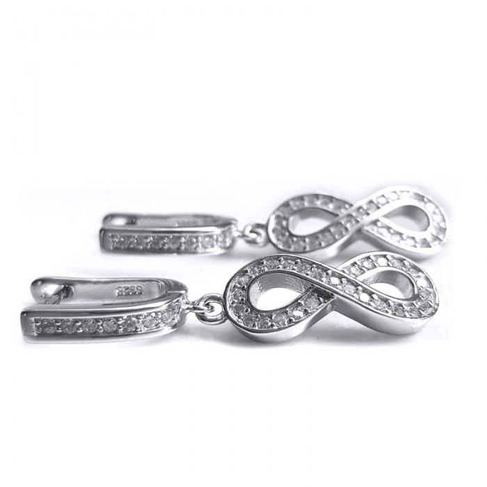 Cercei argint 925 rodiat cu infinit si zirconii - CER0751 - Be Eelegant 2