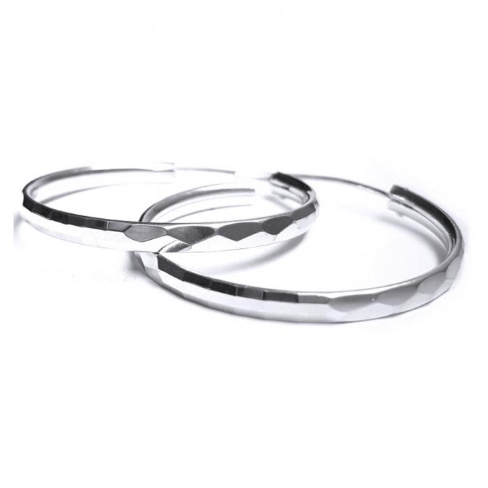 Cercei argint 925 rodiat model rotunzi CER0788 1