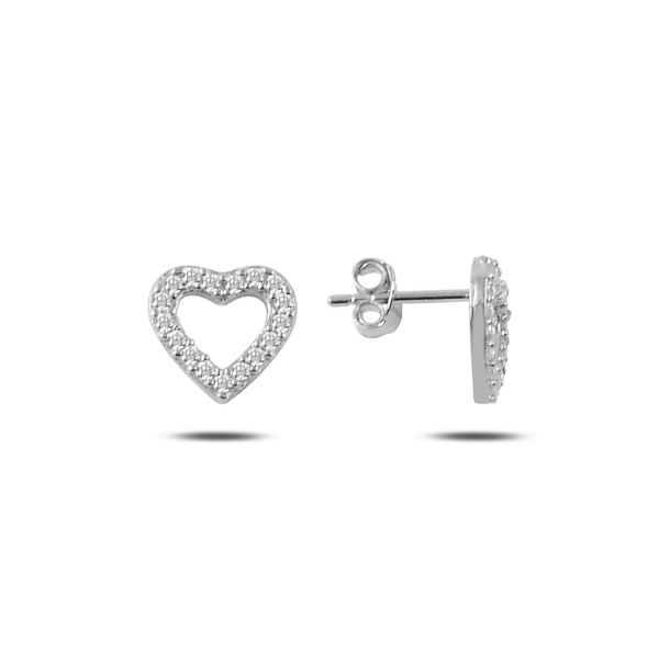 Cercei argint 925 rodiat cu inimioare si zirconii albe - Be in Love ETU0083 0