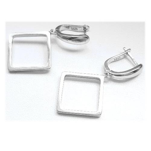 Cercei argint 925 rodiat cu romburi 1
