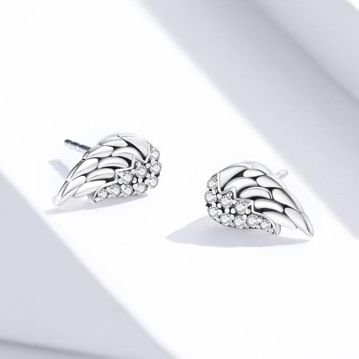 Cercei argint Aripi de Inger cu zirconii 4