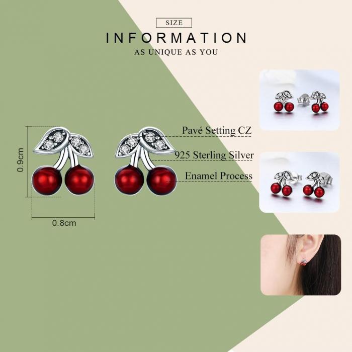 Cercei argint cirese rosii [1]