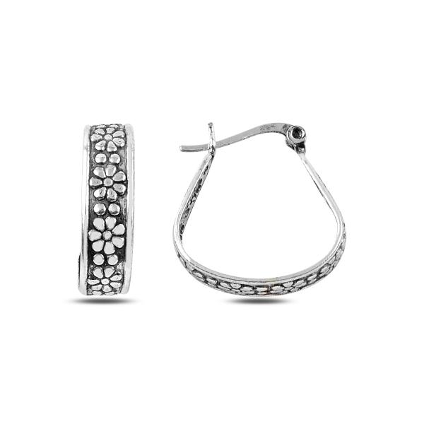 Cercei argint cu model floral - ETU0141 0