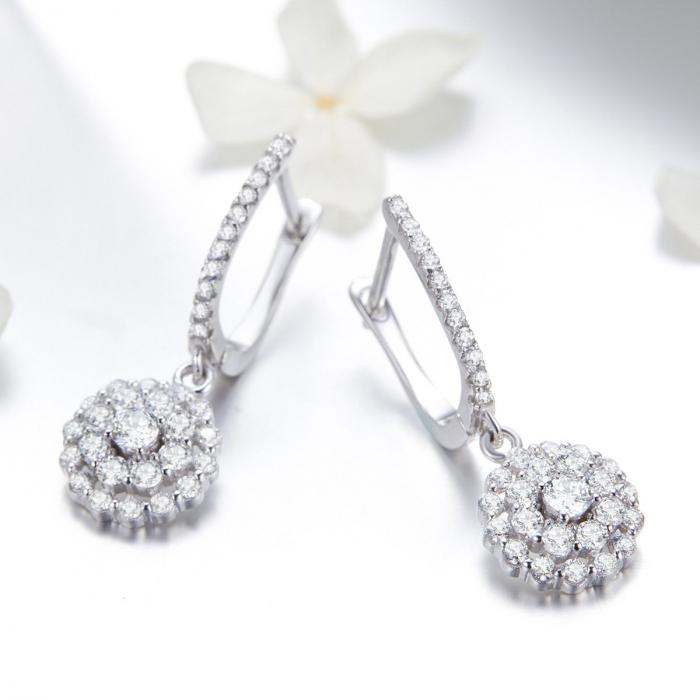 Cercei argint cu zirconii albe [1]