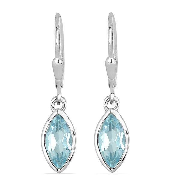 Cercei argint Dorothy, 925, cu topaz Sky Blue - EVA0037 0