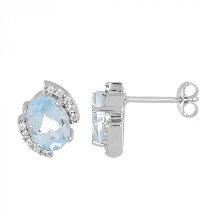 Cercei argint eleganti cu topaz si zirconiu - EVA0059 [1]