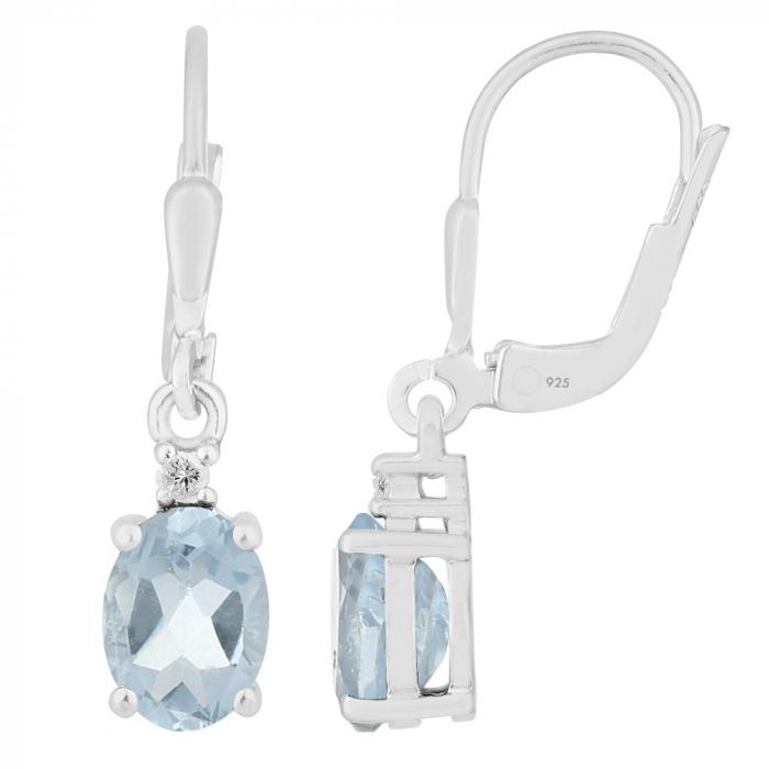 Cercei argint eleganti cu topaz si zirconiu - EVA0069 0