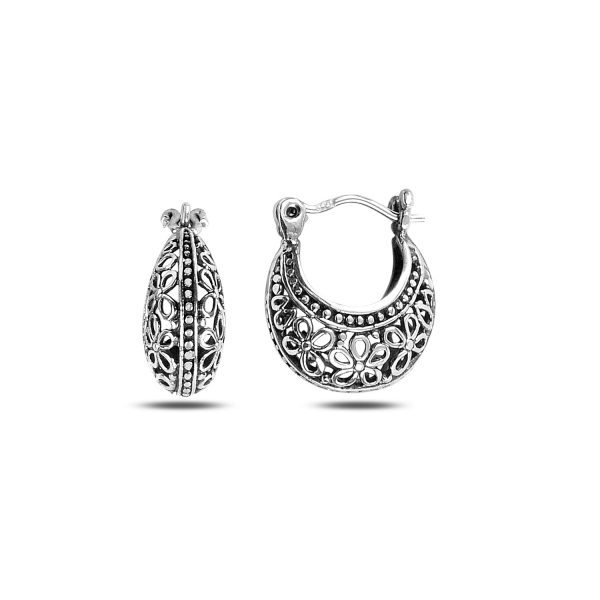 Cercei argint poseta filigran - ETU0138 0