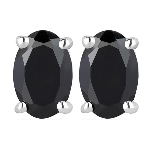Cercei argint Tereza, 925, cu onix negru - EVA0024 0