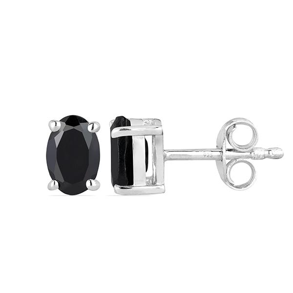 Cercei argint Tereza, 925, cu onix negru - EVA0024 1