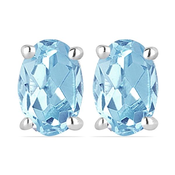 Cercei argint Tereza, 925, cu topaz cer albastru - EVA0025 0