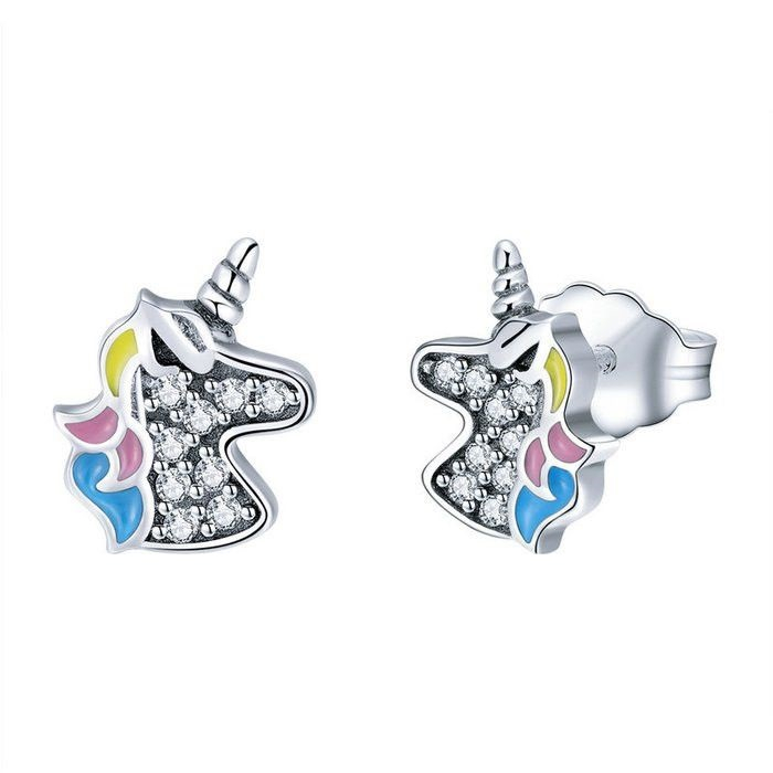 Cercei din argint 925 cu Unicorn 0