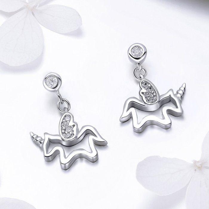 Cercei din argint Baby Unicorn 1