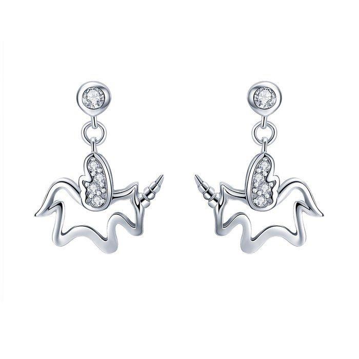 Cercei din argint Baby Unicorn 0