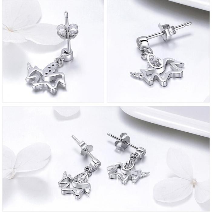 Cercei din argint Baby Unicorn 2
