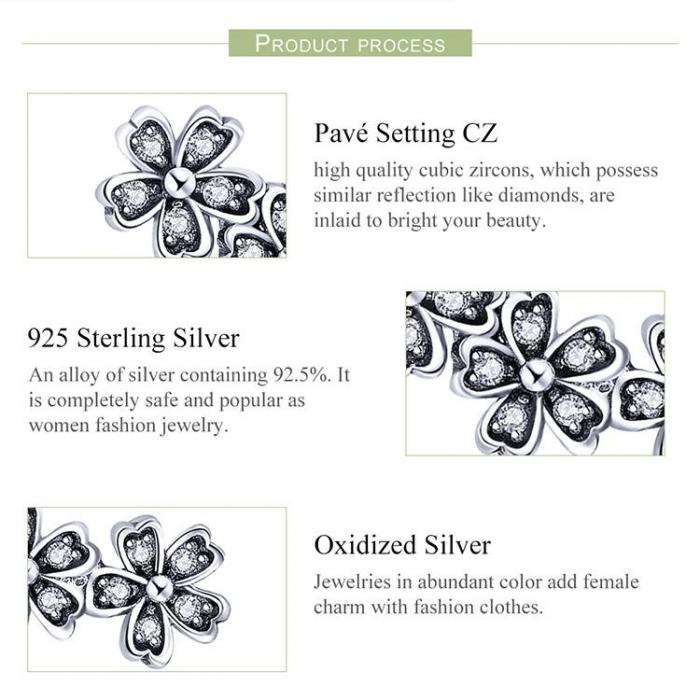 Cercei cu surub flori de cires cu cristale [7]