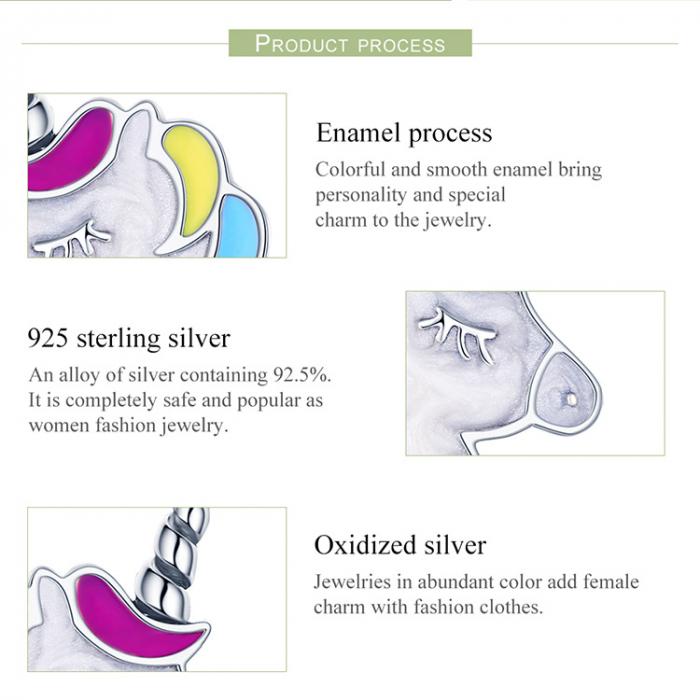 Cercei din Argint Unicorn 4