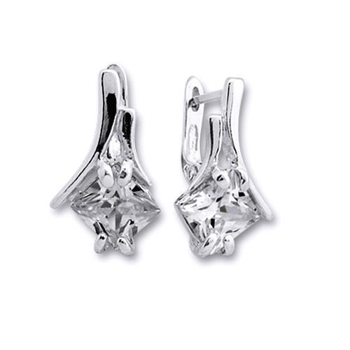 Cercei eleganti din argint 925 cu zirconii [0]