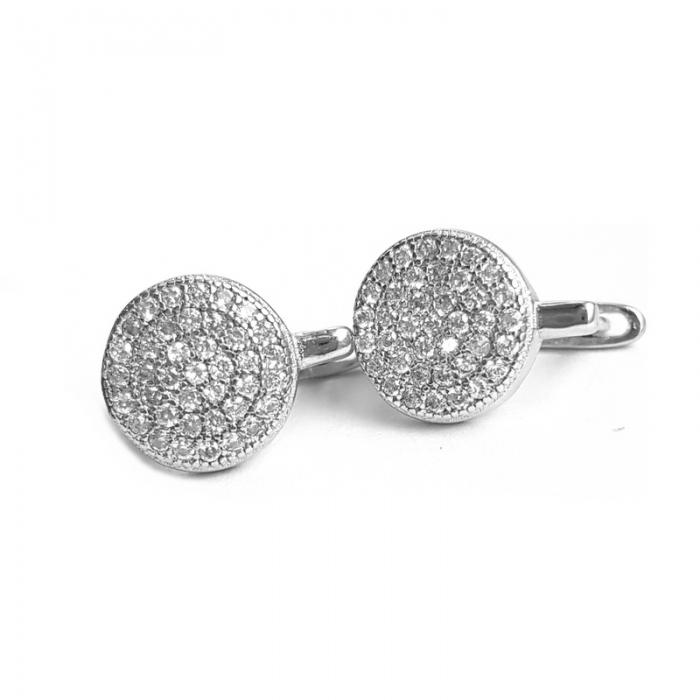 Cercei din argint 925 rodiat si zirconii CER0825 0