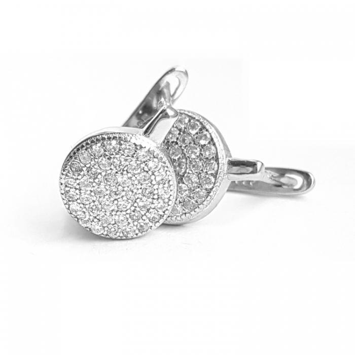 Cercei din argint 925 rodiat si zirconii CER0825 1