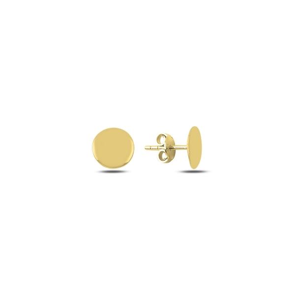 Cercei rotunzi argint 925 aurit cu banuti - Be Authentic ETU0066 0