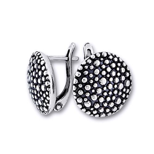 Cercei rotunzi din argint 925 cu pietricele [0]