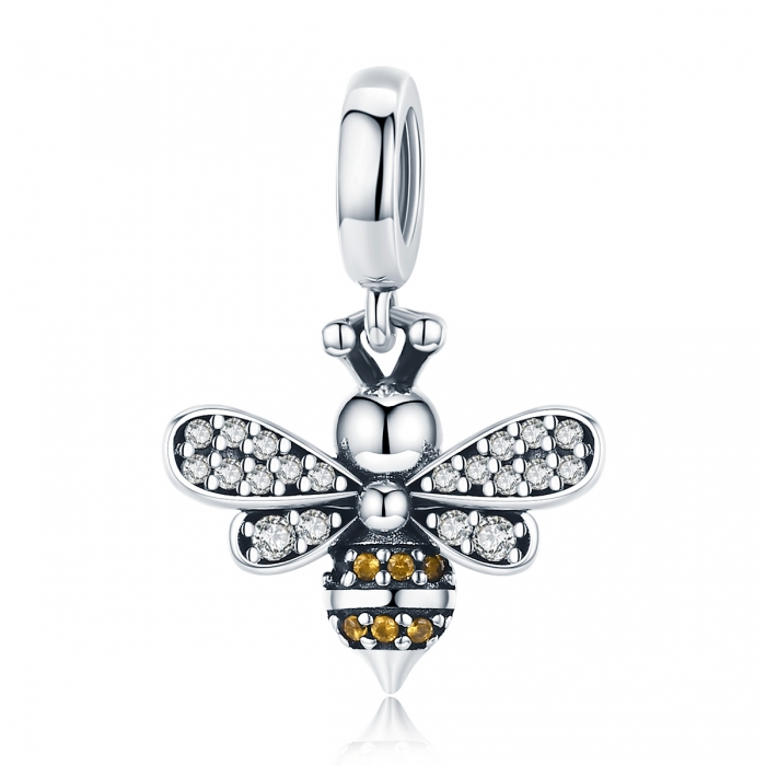 Charm argint 925 cu albinuta si zirconii - Be Nature PST0143 0