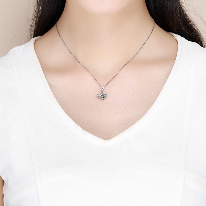 Charm argint 925 cu albinuta si zirconii - Be Nature PST0143 3