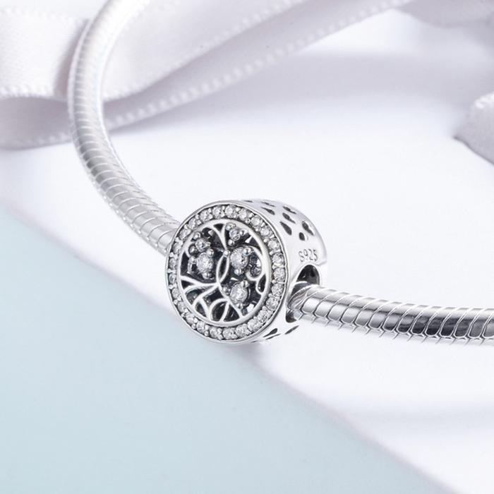 Charm argint 925 cu copacul vietii si zirconii albe - Be Nature  PST0120 3