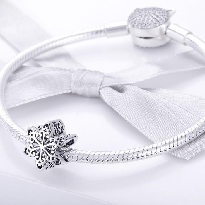 Charm argint 925 cu floare / fulg de nea - Be Nature PST0133 [2]