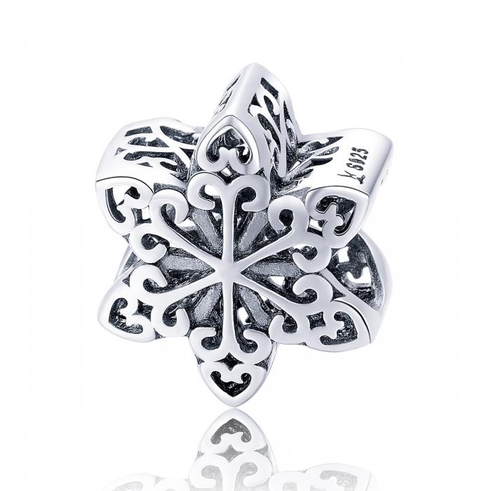 Charm argint 925 cu floare / fulg de nea - Be Nature PST0133 [0]