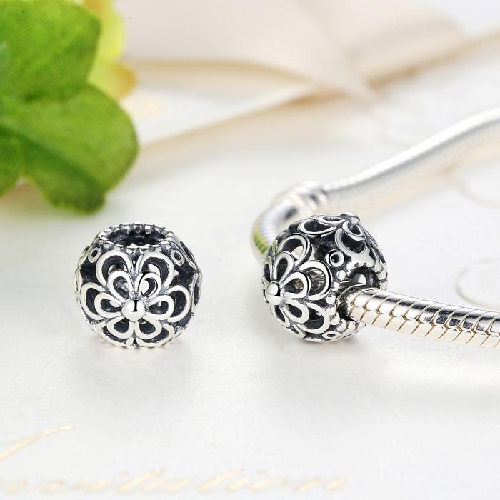 Charm argint 925 cu floricele - Be Nature PST0026 1