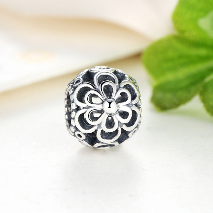Charm argint 925 cu floricele - Be Nature PST0026 2