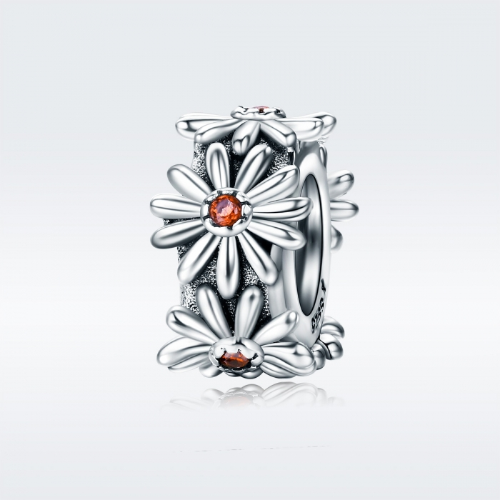 Charm argint 925 cu floricele si zirconii - Be Nature PST0119 [1]
