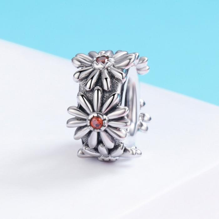 Charm argint 925 cu floricele si zirconii - Be Nature PST0119 [2]