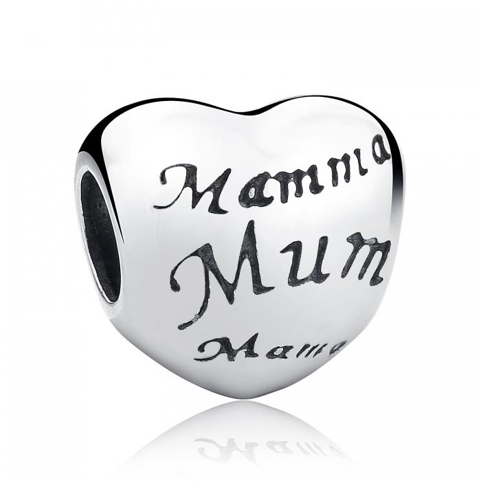 Charm argint 925 cu inimioara Mama - Be in Love PST0019 0