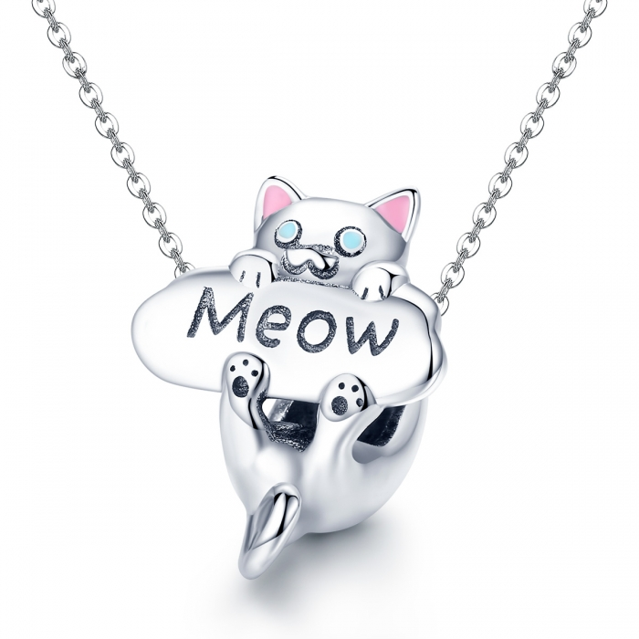 Charm argint 925 cu pisicuta Meow - Be Nature PST0147 4
