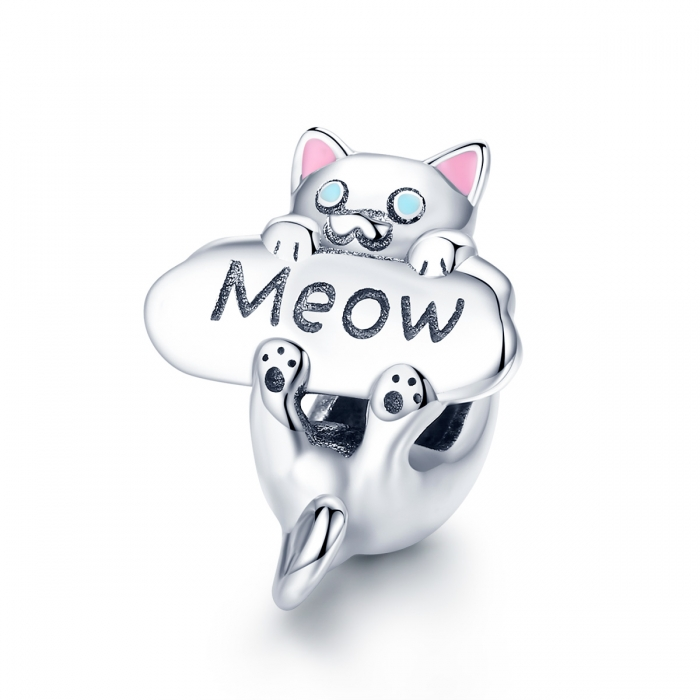 Charm argint 925 cu pisicuta Meow - Be Nature PST0147 0