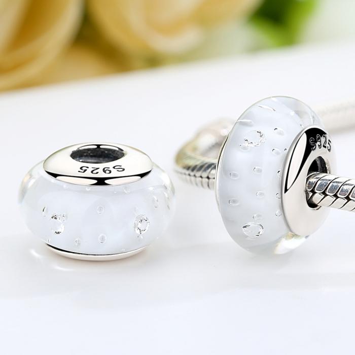 Charm argint 925 cu sticla alba - Be Elegant PST0061 1