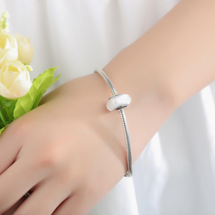 Charm argint 925 cu sticla alba - Be Elegant PST0061 2