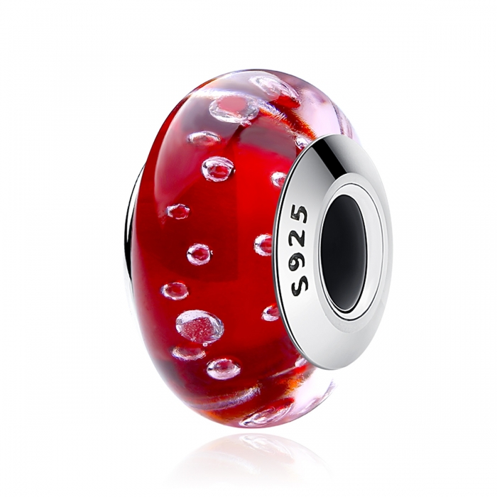 Charm argint 925 cu sticla rosie - Be Elegant PST0070 0