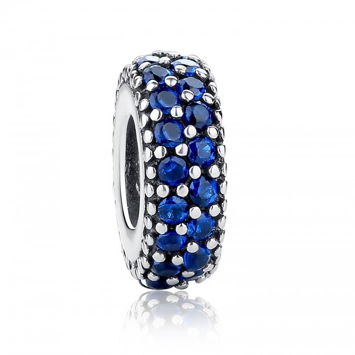 Charm argint 925 cu zirconii albastre - Be Elegant PST0029 0