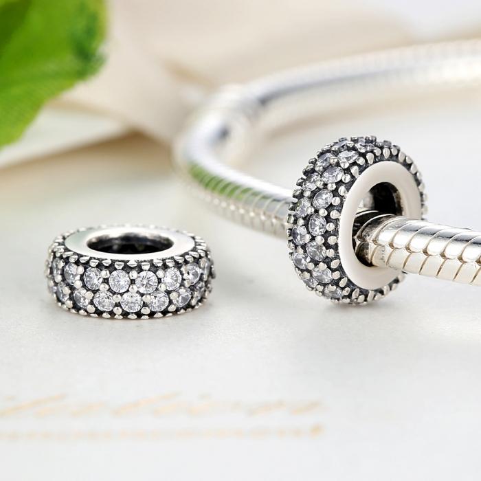 Charm argint 925 cu zirconii albe - Be Elegant PST0020 1