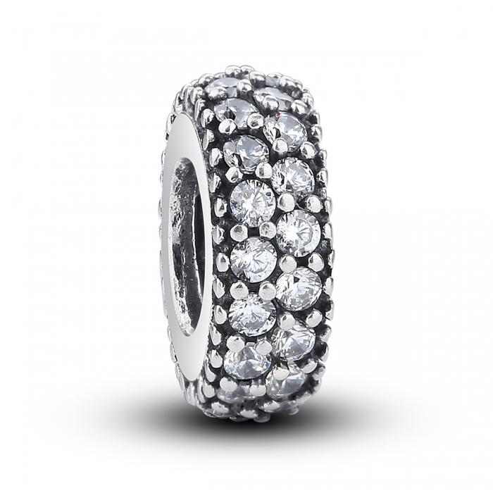 Charm argint 925 cu zirconii albe - Be Elegant PST0020 0