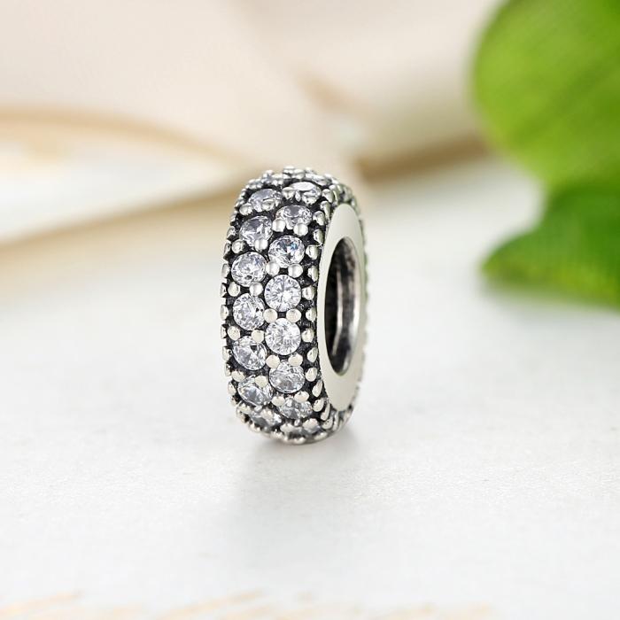 Charm argint 925 cu zirconii albe - Be Elegant PST0020 2