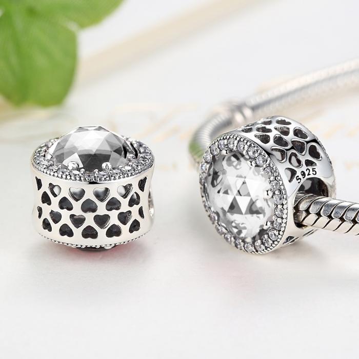 Charm argint 925 cu zirconii albe - Be Elegant PST0038 1