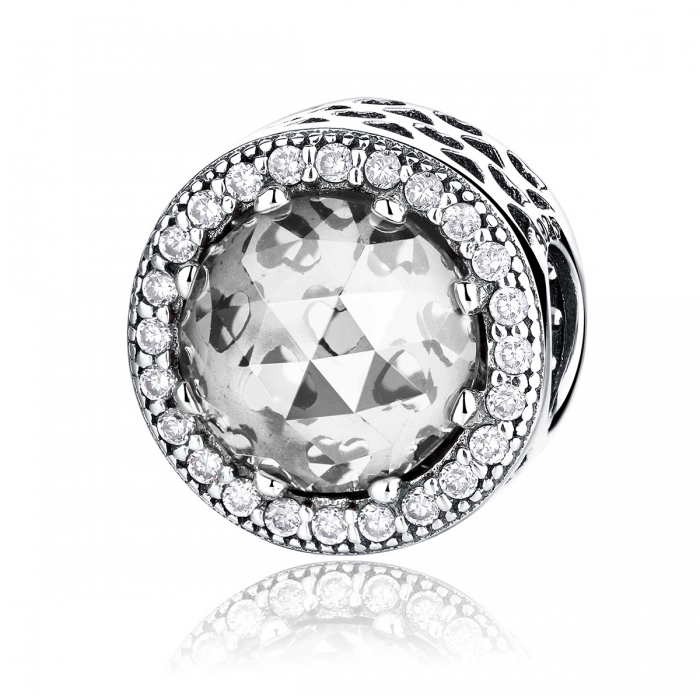 Charm argint 925 cu zirconii albe - Be Elegant PST0038 0
