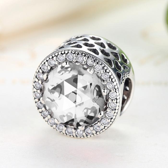 Charm argint 925 cu zirconii albe - Be Elegant PST0038 3