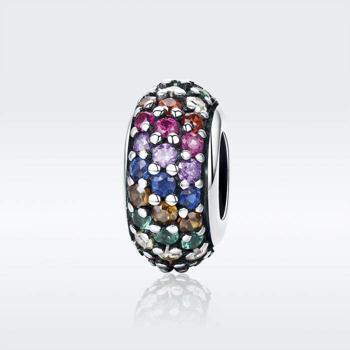 Charm argint 925 cu zirconii multicolore - Be Elegant PST0118 1