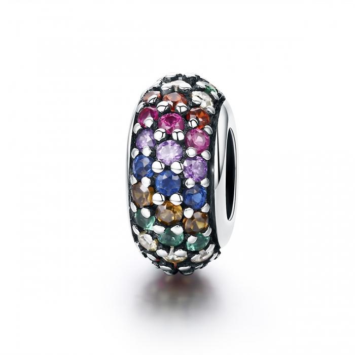 Charm argint 925 cu zirconii multicolore - Be Elegant PST0118 0